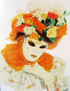 Carnival Mask by After Japanese Print