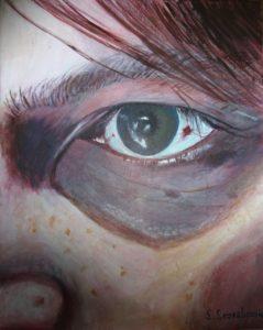 jo's eye by Sylvia Scarsbrook