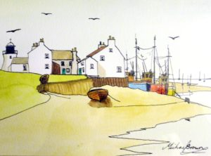 Estuary harbour by Michael George