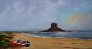 Fisherman At Holy Island by Thomas deBetham