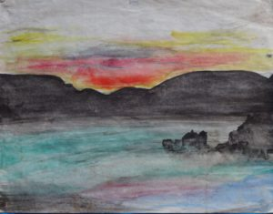 sunset & mist by Sylvia Scarsbrook