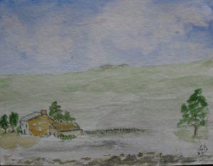 remote farmhouse by Sylvia Scarsbrook