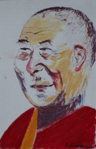 the dalai lama by Sylvia Scarsbrook