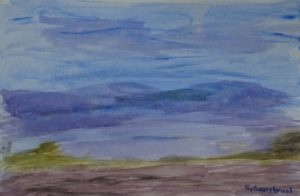 purple mountains by Sylvia Scarsbrook