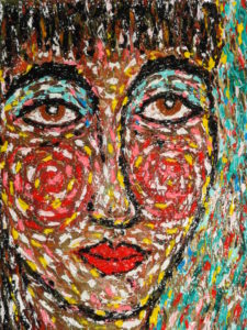 Face Untitled. by Pearly King