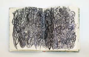 Photograph of sketchbook by Chris Neate