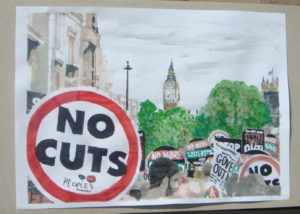 No cuts march by Andy Burton