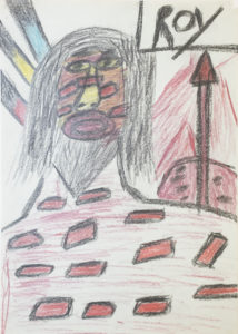 Untitled (Native American with Arrow by Roy Collinson