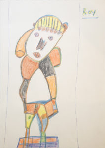 Untitled (Figure with Tilted Head) by Roy Collinson