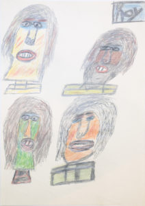 Untitled (Four heads) by Roy Collinson