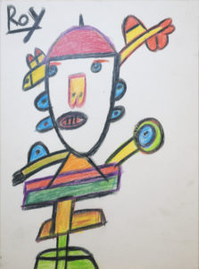 Untitled (Totem with Red Hat) by Roy Collinson
