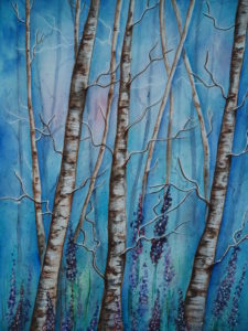 Crystal Blue Forest by Krystyna Spink