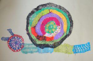 Rainbow Snail by Freda Harrington