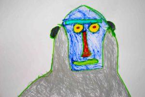 Monkey #1 by Linda Bell