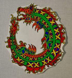 Dragon Holding Tail by John Lake