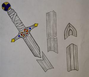 Broken Viking Sword by John Lake