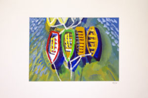Boats On The Thames by Rowena Turney