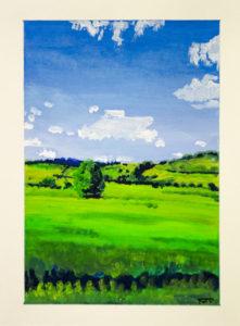Kent Field In June by Rowena Turney
