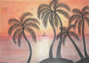 Tropical Sunset by Hionoula Batchelor