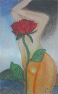 Lady and the rose by Hionoula Batchelor