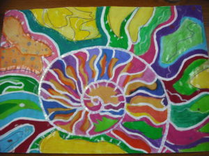 Colourful Fossil by Cathy Mills