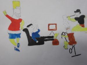 Bart Simpson by Untitled