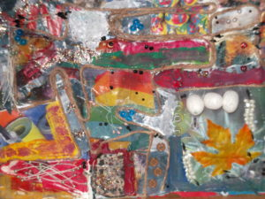 unmounted collage by Lorna
