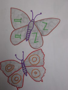 Two butterflies by Dave  King