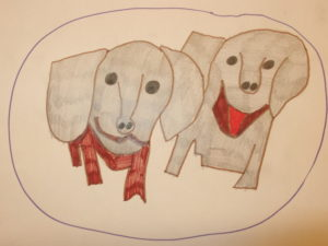Dogs on a Plate by Dave  King
