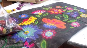 Painted Design work for Flower Tapestry by Butterfly