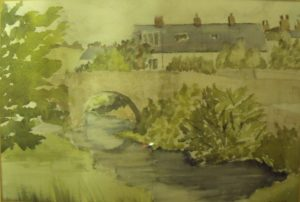 View of a Stream and Bridge by Liz Innes