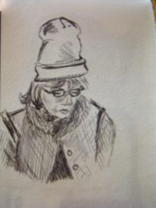 girl on tube by Flozza