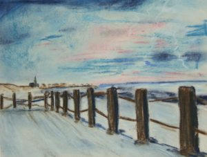 Tynemouth in winter by Jean Drury