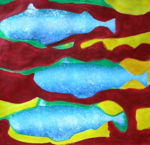 Salmon against red tide by albert c