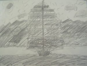 Sailing Ship by John T Open Door MK