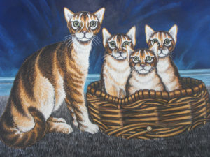 Cats in Baskets by Martin T