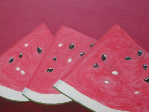 Water melon slices by Janet Ozay