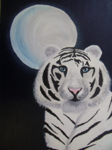 Tiger in the moonlight by Teri Harper
