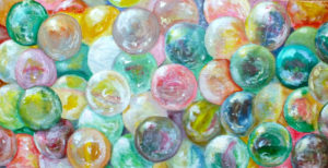 close up of marble painting by Ann Hardcastle