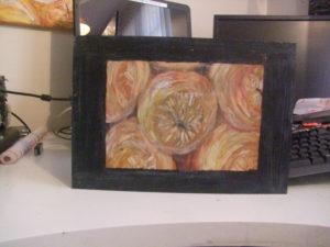 oranges painted on flexibla plastic by shjbudd