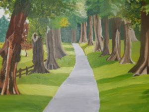 pathway through a forest by Susannah Donnelly