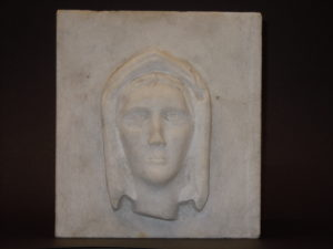 Marble head by Alice Fletcher