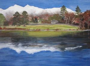 Lake side scene by Heather Ramshaw