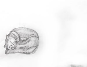 Sleeping Cat by Simona Hartia