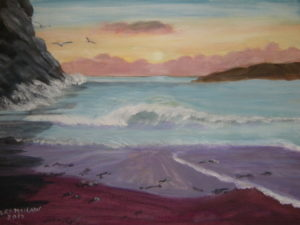 Sunset at sea by Heather Ramshaw