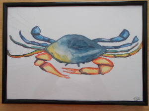 Colourful Crab by sophie mayes