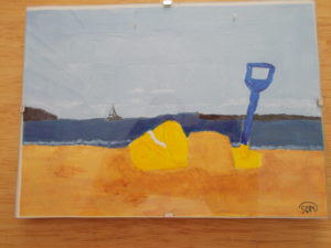 Bucket and spade fun on the beach by sophie mayes