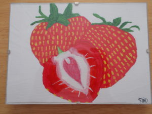 Strawberries by sophie mayes