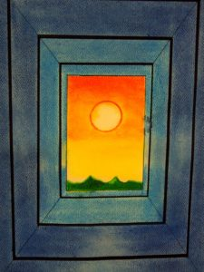 Landscape Through a Window by Nadean Stewart
