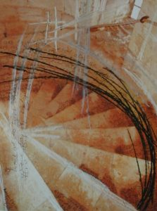 Spiral with drawing by Debbie Sutton